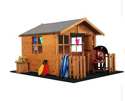 NEW BillyOh Lodge Playhouse With Picket Fence Kids Outdoor Garden Wendy Houses
