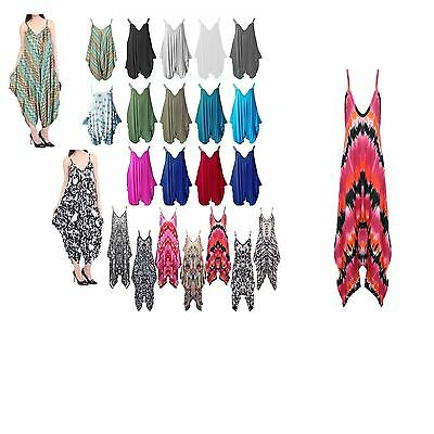 Ladies Cami Lagenlook Romper Drape Baggy Harem Playsuit Jumpsuit Dress Plus Size