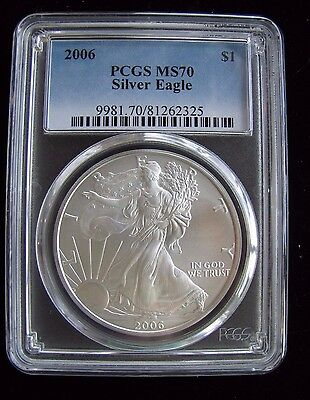 2006 PCGS MS70 Silver AMERICAN EAGLE Walking Liberty - Beautiful