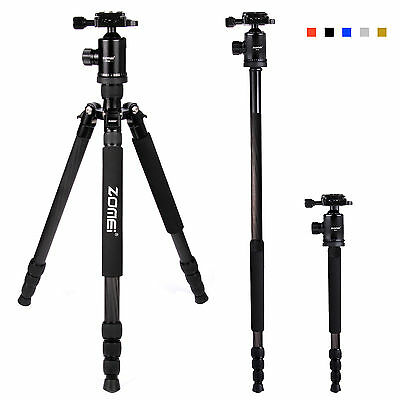 Black Pro Carbon Fiber Tripod Z818C Travel Monopod&Ball Head for DSLR Camera