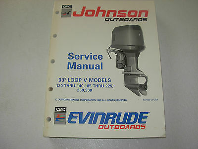 Johnson Evinrude 120 - 140 , 185 - 225 , 250 , 300 V Models Service Manual