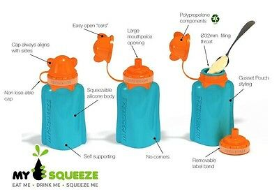 MY SQUEEZE - Reusable BPA Free Silicone Food Pouch | Easy to Clean | Wide Mouth