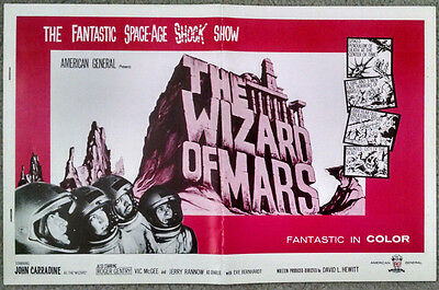 The Wizard of Mars 4 page Advertising Campaign Ad Slicks B Sci Fi Film Movie