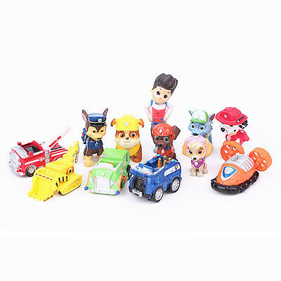 12pcs Cute Paw Patrol Action Figures Doll Kids Children Baby Boy Girl Toy Gift
