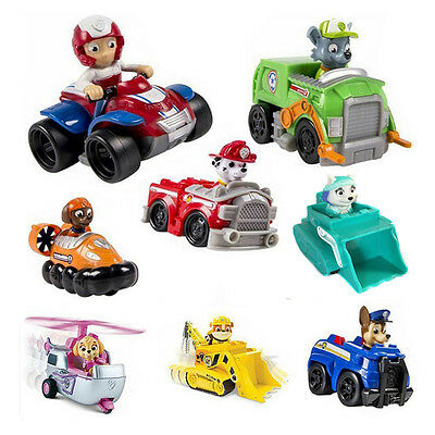 HOT Paw Patrol Pup Dog Racer Characters Figures Doll Kids Children Baby Toy Gift