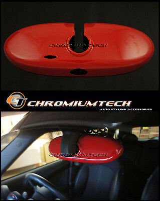 RED Interior Rear View MIRROR Cover for 2004-13 MINI Cooper/S/ONE R53 R56 R57