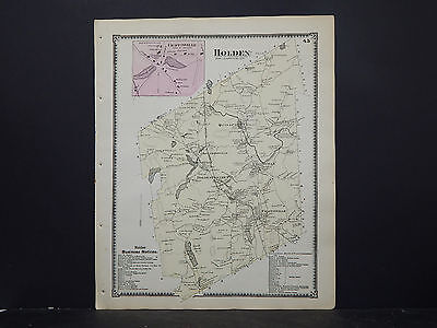 Massachusetts, Worcester County Map 1870 P2#65 Holden