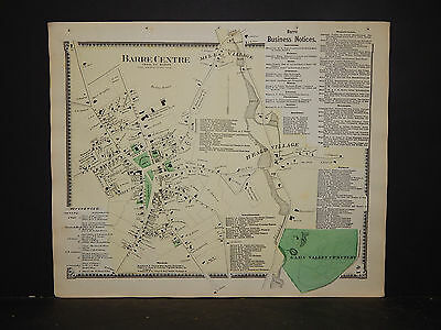 Massachusetts, Worcester County Map 1870 P2#69 Barre Center