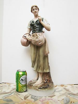 "Royal Dux 20.5"" Porcelain Beautiful Lady figurine Lange size"