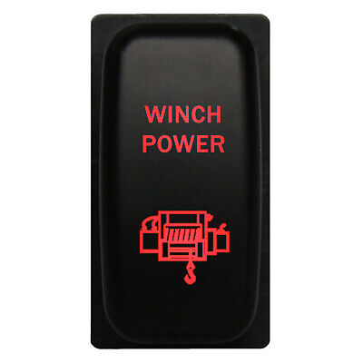 Rocker switch 553OM 12V WINCH OUT WINCH IN LED amber momentary DPDT 20A