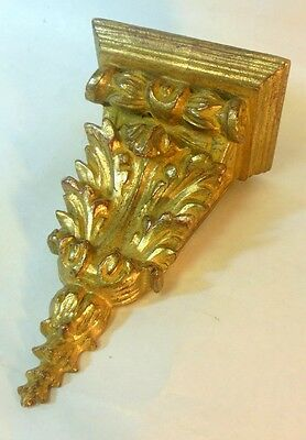 Vtg Italian Florentine Carved Gilt Gold Wood Wall Shelf Bracket  BAROQUE Style