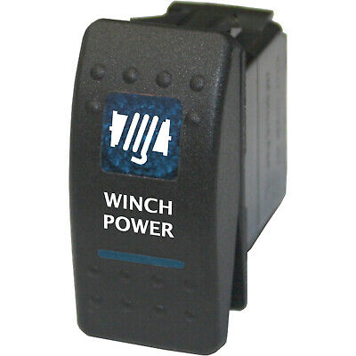 Rocker switch 551B 12V WINCH POWER Carling ARB NARVA type led blue