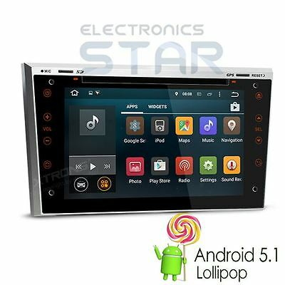"""7"""" Android 5.1 Car DVD Player GPS DAB+ Opel Vauxhall Astra H Corsa Vectra Silver"""