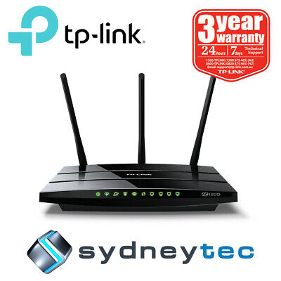 New AU TP-Link Archer VR400 - AC1200 Wireless VDSL/ADSL Modem Router