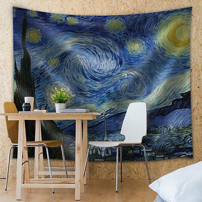 Wall26® - Starry Night by Vincent Van Gogh - Fabric Tapestry - 51x60 inches