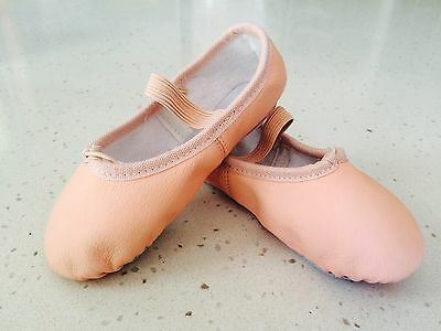 kids girls leather ballet shoes
