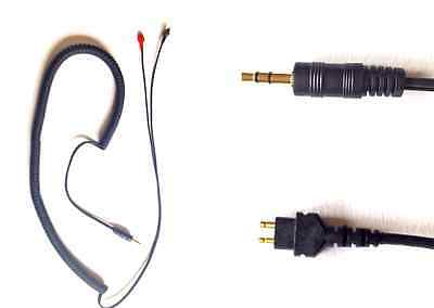 Coiled Replacement Cable For Sennheiser HD414 HD430 HD525 HD540 Headphones