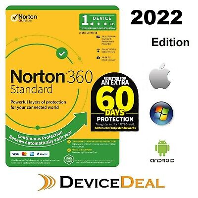 Norton Security Deluxe 2020, 1 Year 3 Device  PC, MAC, Android,License key-Email