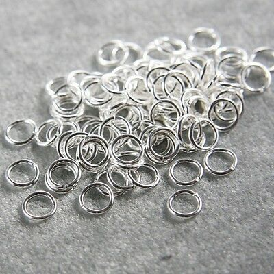 100pcs Bright Silver Tone Base Metal Opened Jump Rings-7mm (18 Gauge) 320C-I-16A