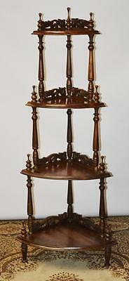 Vintage Mahogany 4 Tier Corner Whatnot Shelves - FREE Delivery [PL2356]