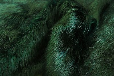 Super Luxury Faux Fur Fabric Material - SUPERIOR LONG PILE GREEN BLACK