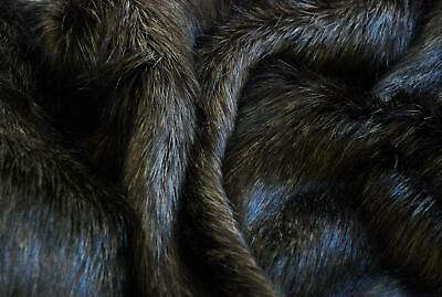 Super Luxury Faux Fur Fabric Material - LONG PILE SAND BROWN