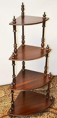 Vintage Mahogany 4 Tier Corner Whatnot Shelves - FREE Delivery [PL2357]