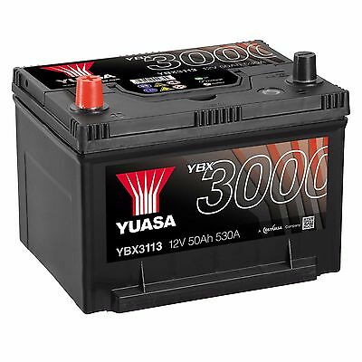 Yuasa YBX3113 12V Car Battery 50Ah 530A 113 Type Sealed Maintenance Free