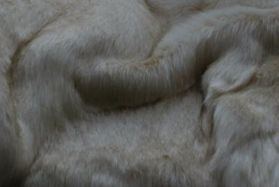Super Luxury Faux Fur Fabric Material - LONG PILE CREAM BROWN