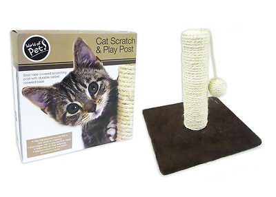 Cat Pet Scratching Scratch Post Sisal Rope Ball Chewing Toy Accessories