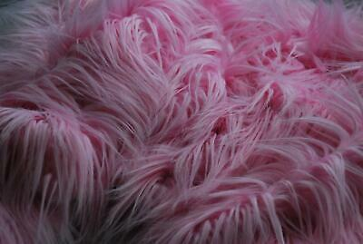 Super Luxury Faux Fur Fabric Material - EXTRA LONG PINK