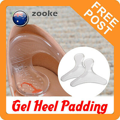 Silicone T-Shaped Gel Heel Liners Padding Insole Cushion for Pain, Spurs, Callus