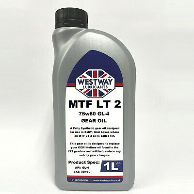 1L Mtf-Lt-2 Synthetic Gear Oil For Bmw Mini Lt2 Westway Lubricants