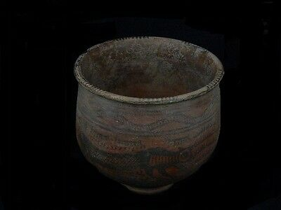 Ancient Large Size Teracotta Painted Pot With Lions Indus Valley 2500 BC