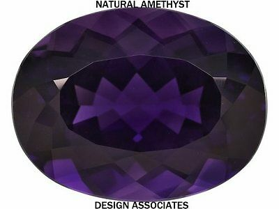 AFRICAN AMETHYST OVAL CUT 39x29 MM ALL NATURAL