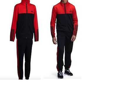 Adidas Boys Play Gym Outdoore Tracksuit Polyester  Black/red New