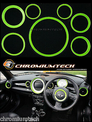 MINI Cooper/S/One R56 Hatch R57 R58 Coupe R59 Roadster GRÜN Innenraum Ring Set