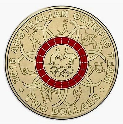 2016 Olympic $2 Coin Australian Two Dollars ### Red  Uncirculated choice Ex Set