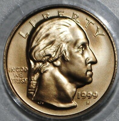 1999-W $5 GOLD UNCIRCULATED COMMEMORATIVE GEORGE WASHINGTON PCGS MS69 Coin
