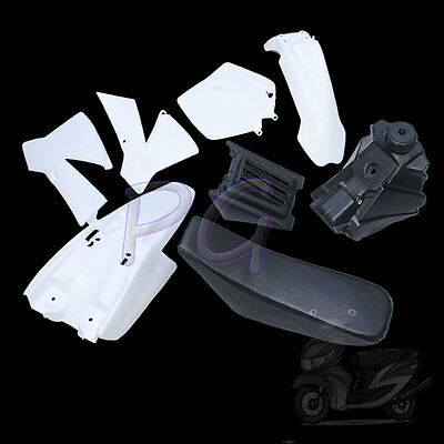 Whtie Oem Ktm50 Plastics Fender Cover Tank Seat Kit Jr Sr Motocycle