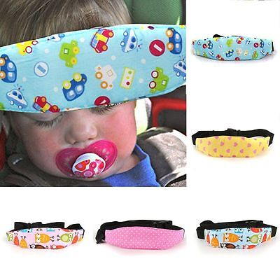 Safety Elastic Lovely Baby Kids Stroller Car Seat Sleep Nap Aid Head Holder Belt