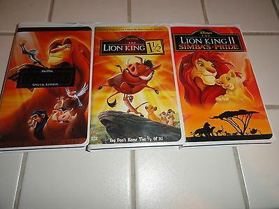 The Lion King Trilogy Collection-1, 1 1/2 & 2 Free Shipping! + Free Priority!