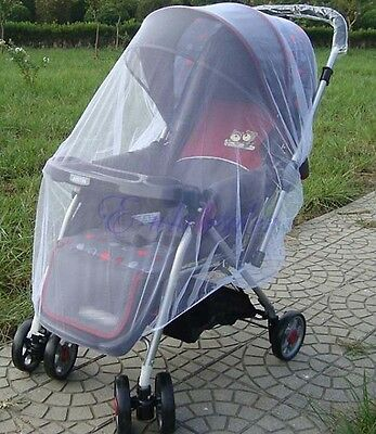 Mosquito Net Stroller Infants Baby Safe Mesh White Bee Insect Bug Cover YG