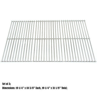 Replacement SS Cooking grid for JennAir BBQ Barbeque Gas Outdoor Grill, set of 3