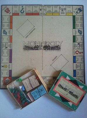 MONOPOLY - Vintage Board Game - John Sands - Patent Applied For