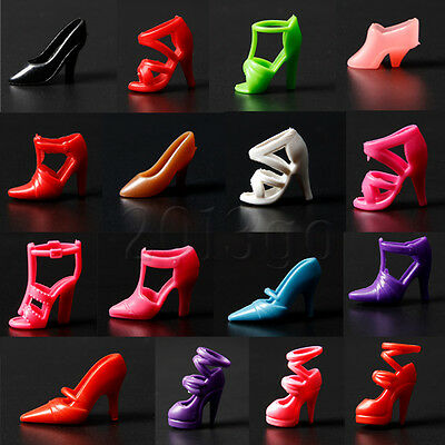 Mix 80pcs 40 Pair Different High Heel Shoes For Doll Clothe Accessorie YG