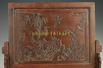 Solid Wood Carving Painting Flowers Household Adornment Restoring Ancient