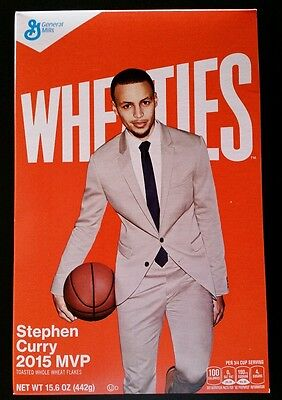 Steph Curry WHEATIES Cereal Box - NBA Champion GOLDEN STATE WARRIORS MVP