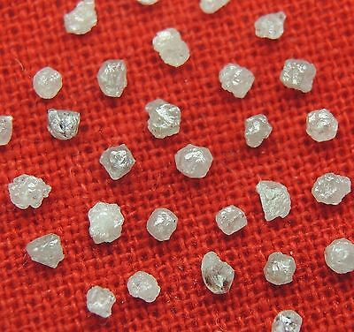 1.00 ct Lot Natural Loose Diamond Rough Natural Shape White Grey Color #