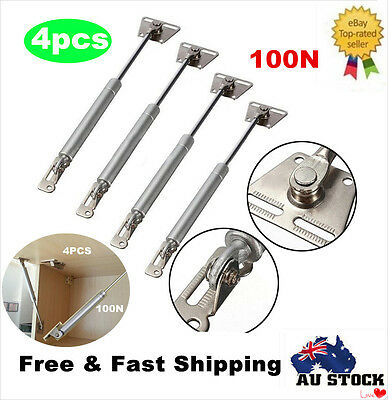 4 x 100N Hydraulic Gas Strut Lift Support Kitchen Cupboard Door Cabinet Hinges